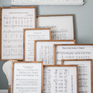 Amazing grace sheet music sign